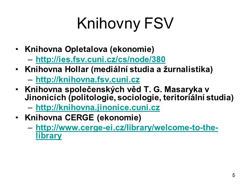 Knihovny FSV Knihovna Opletalova (ekonomie)