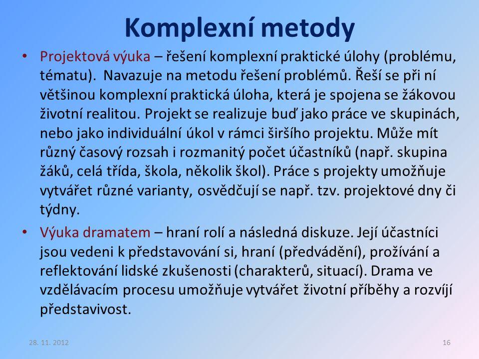 Komplexní metody
