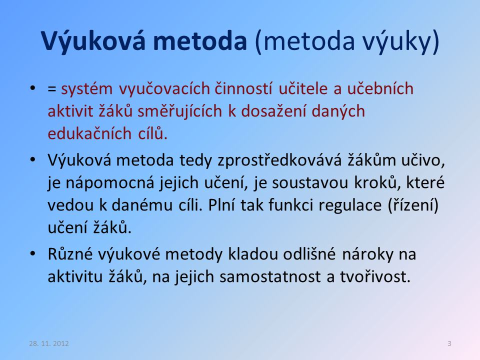 Výuková metoda (metoda výuky)