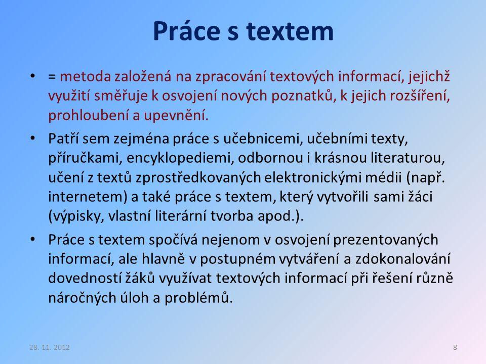 Práce s textem