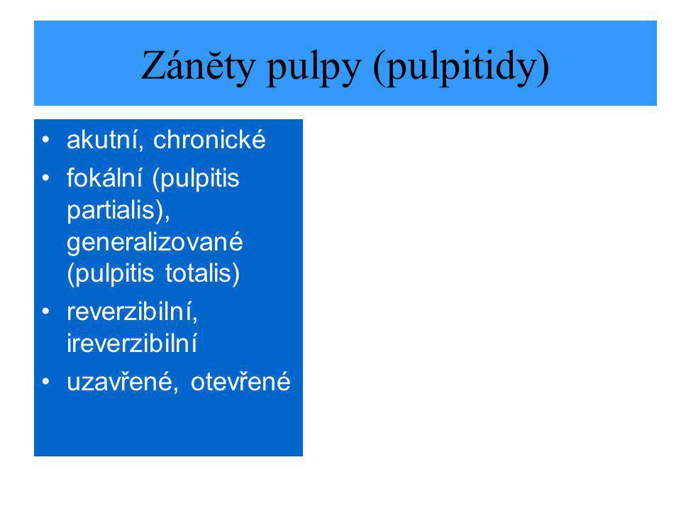 Zánĕty pulpy (pulpitidy)