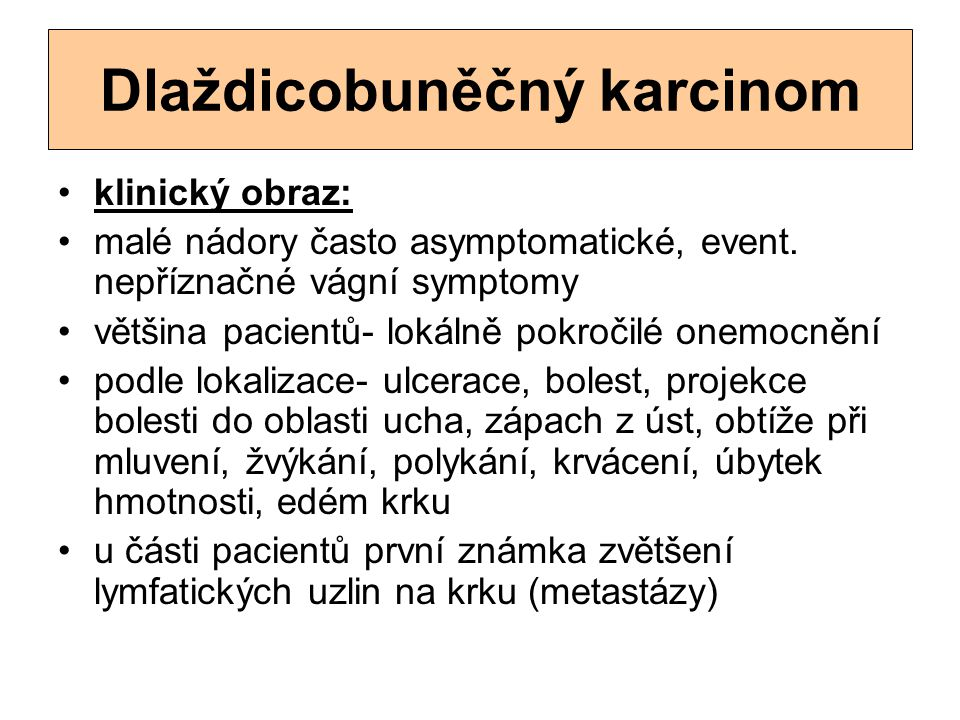 Dlaždicobuněčný karcinom