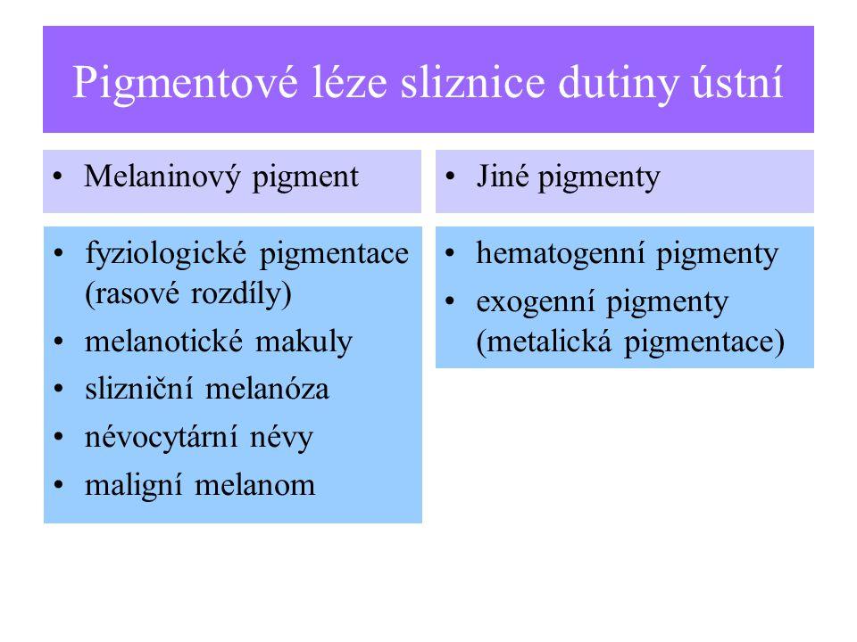 Pigmentové léze sliznice dutiny ústní