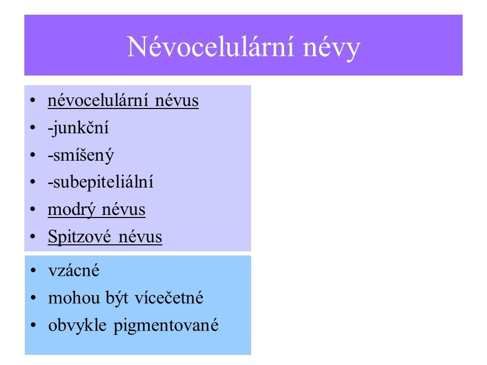 Névocelulární névy névocelulární névus -junkční -smíšený