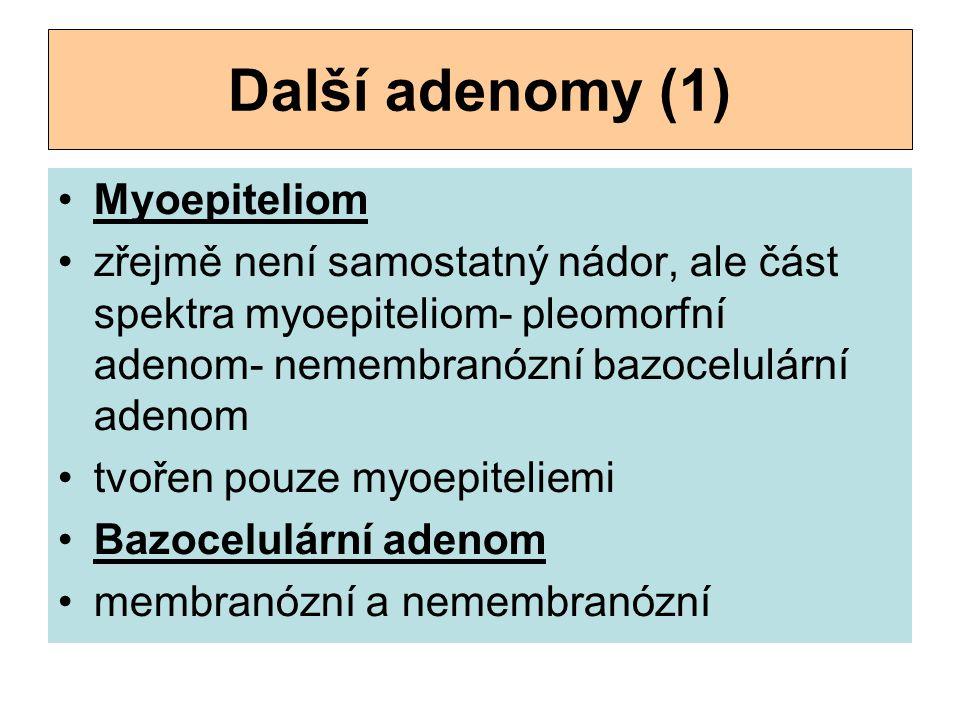 Další adenomy (1) Myoepiteliom