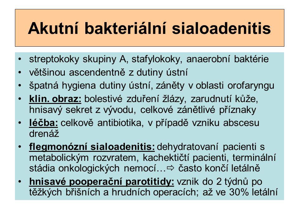 Akutní bakteriální sialoadenitis