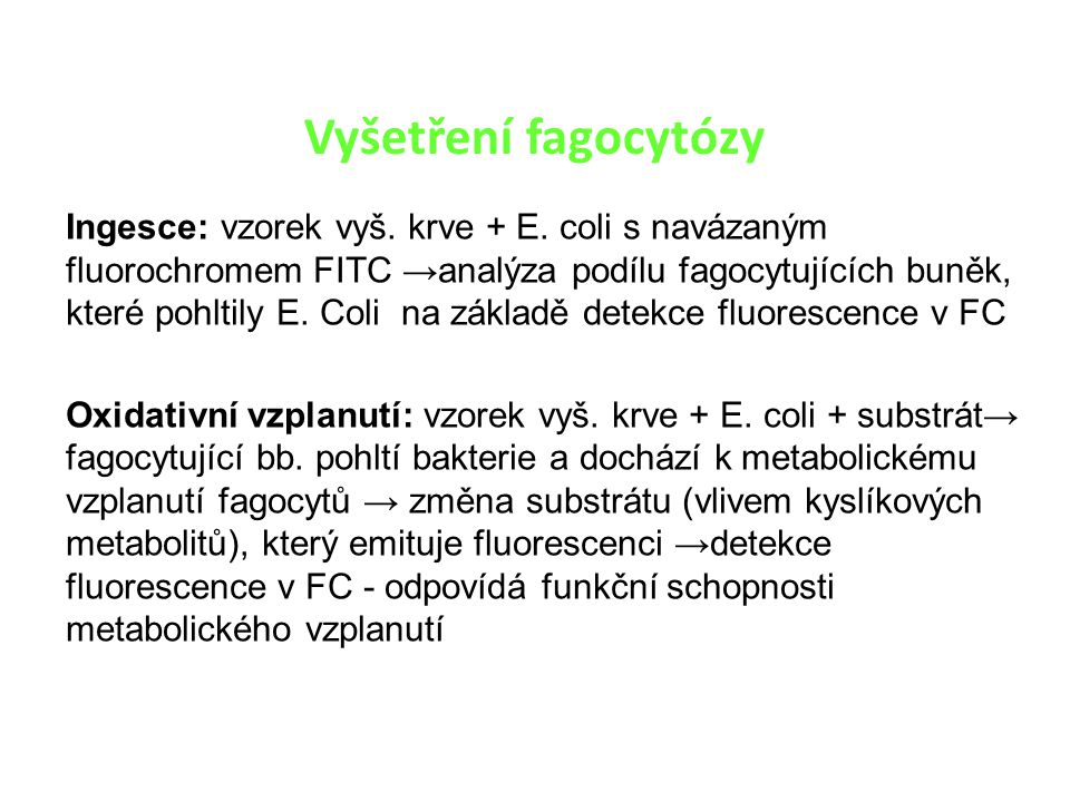 Vyšetření fagocytózy