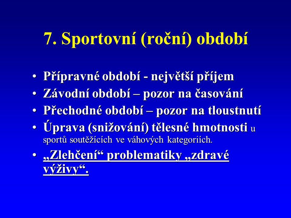 7. Sportovní (roční) období