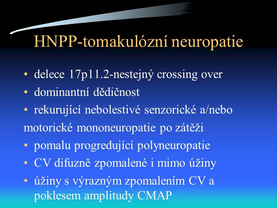 HNPP-tomakulózní neuropatie