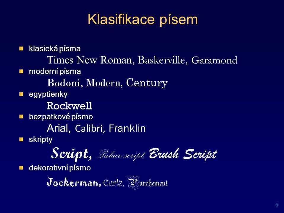 Script, Palace script, Brush Script