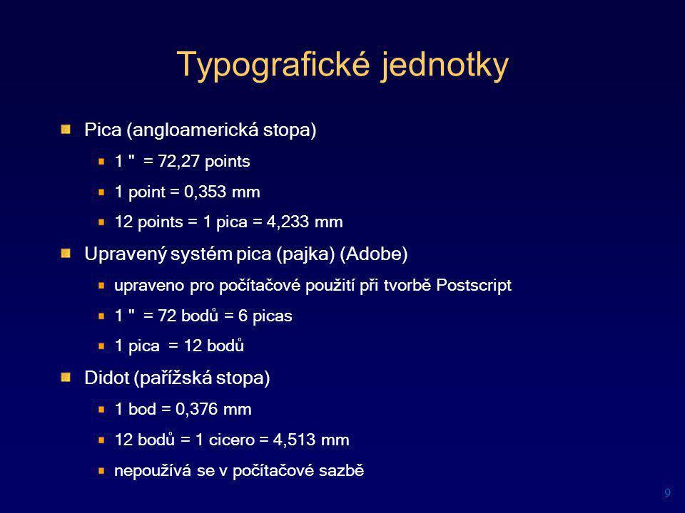 Typografické jednotky