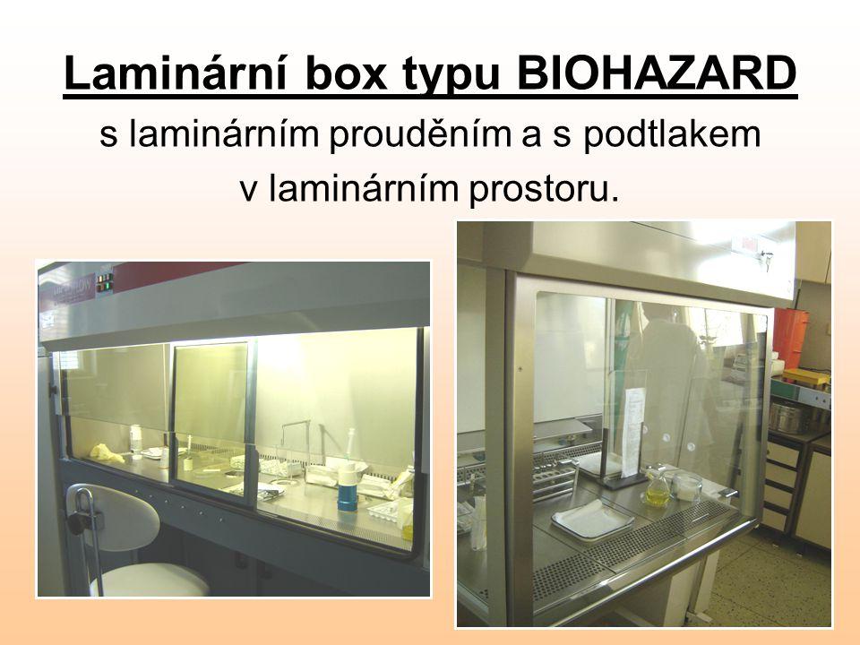 Laminární box typu BIOHAZARD