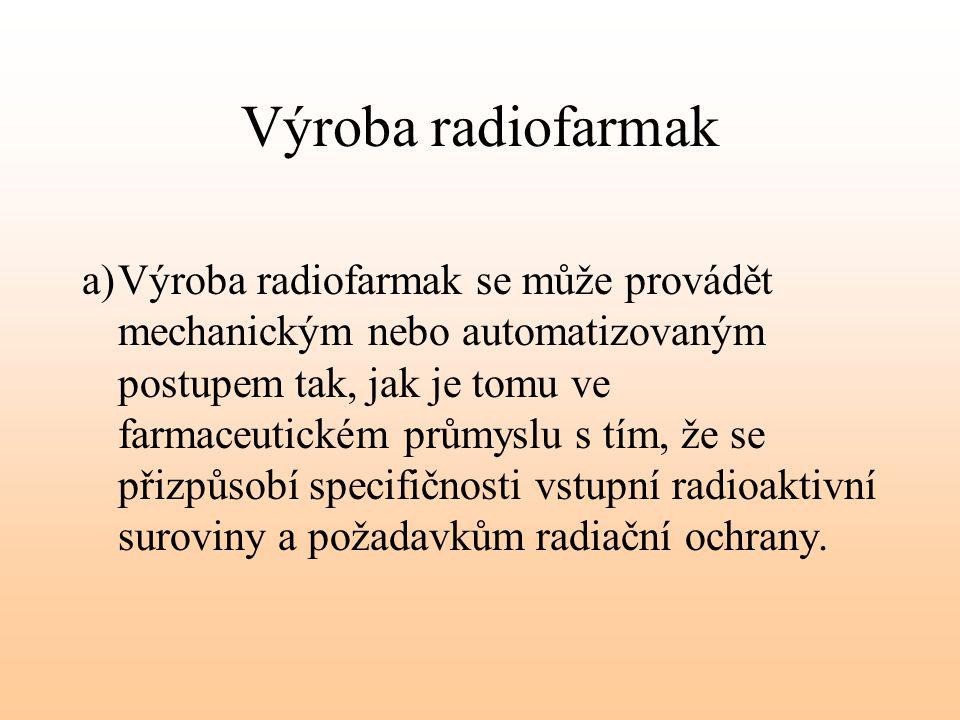 Výroba radiofarmak