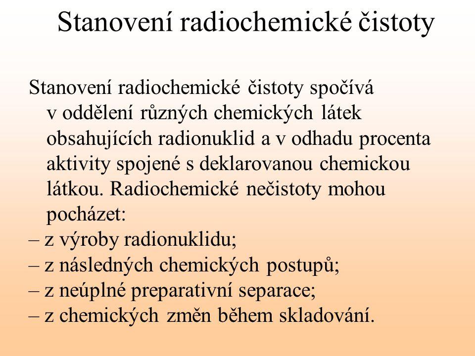 Stanovení radiochemické čistoty