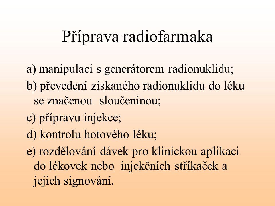 Příprava radiofarmaka