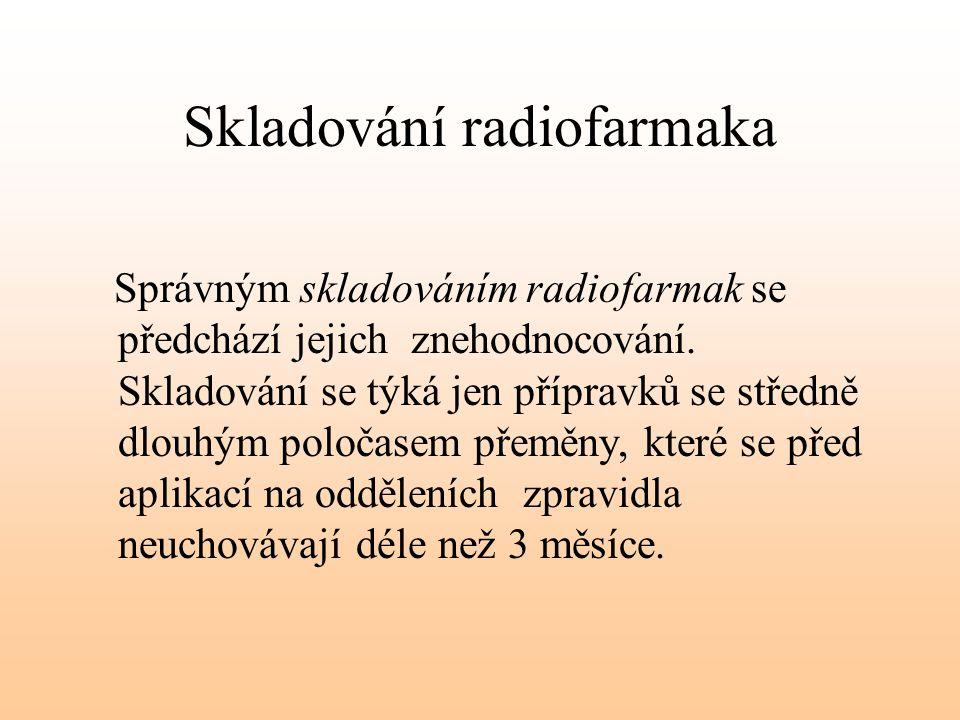 Skladování radiofarmaka