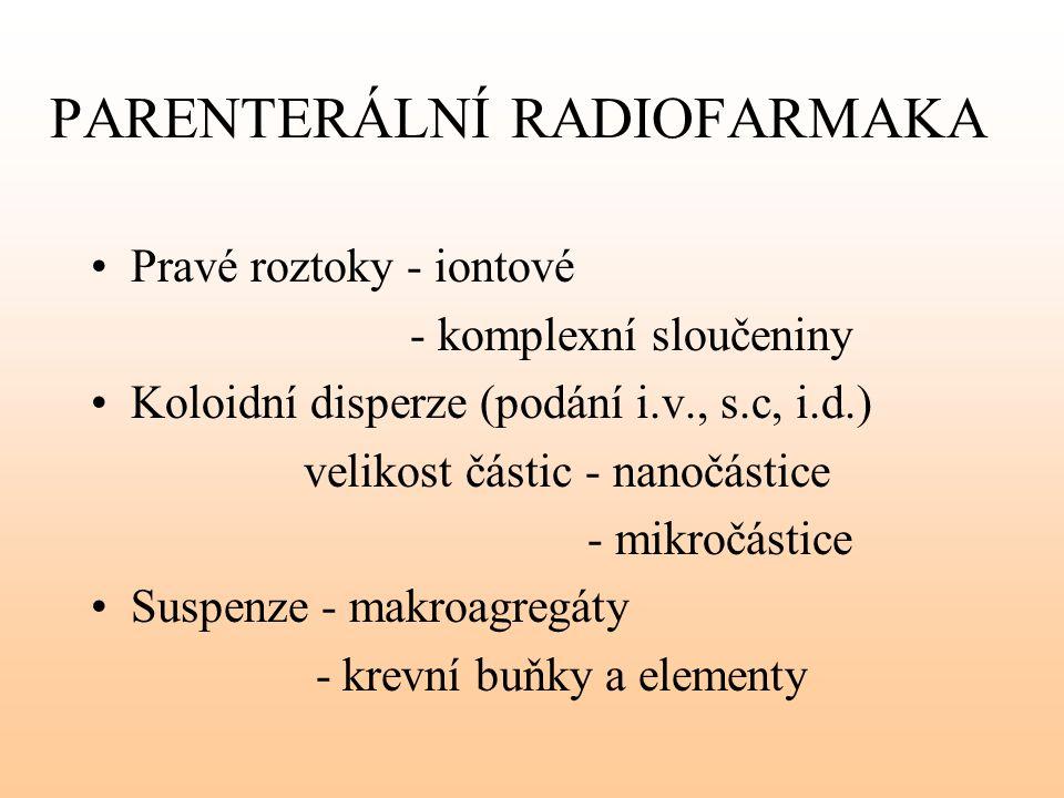 PARENTERÁLNÍ RADIOFARMAKA
