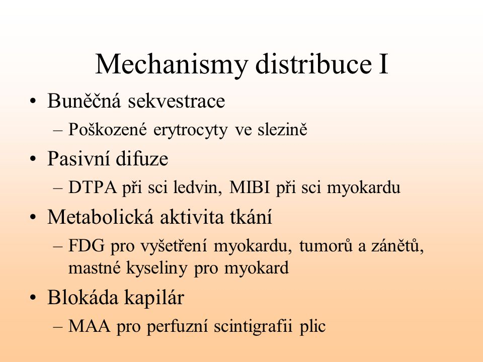 Mechanismy distribuce I