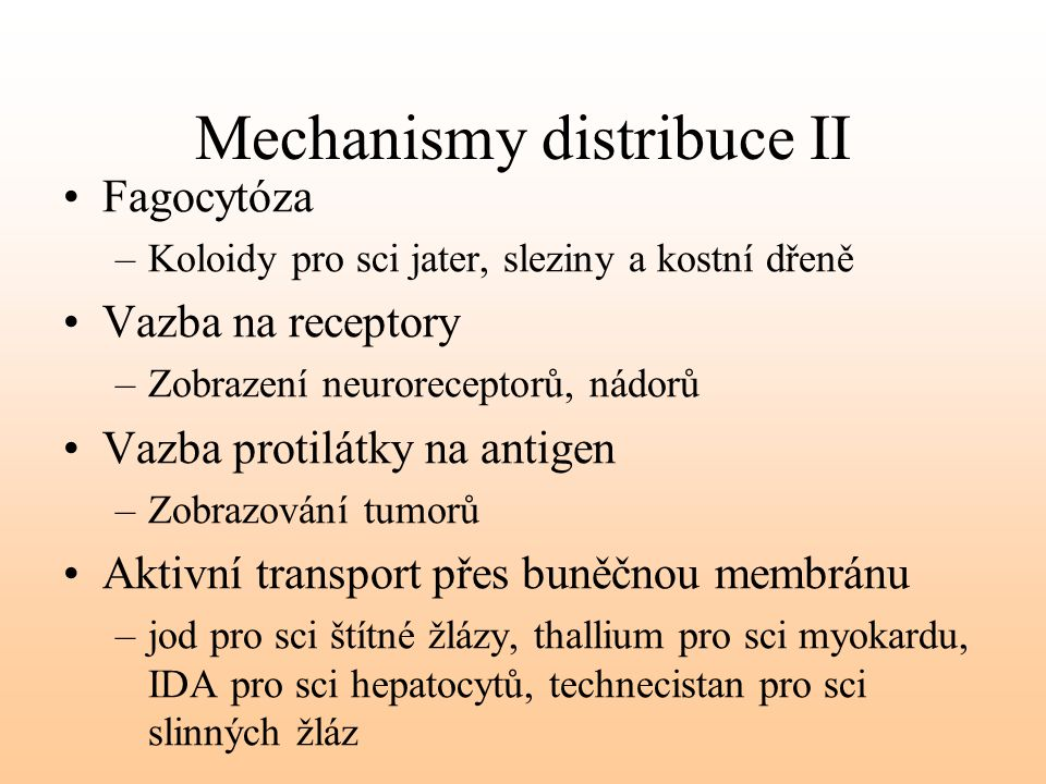 Mechanismy distribuce II