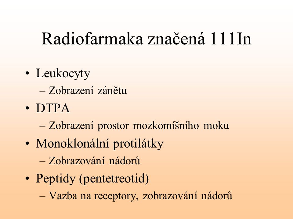 Radiofarmaka značená 111In