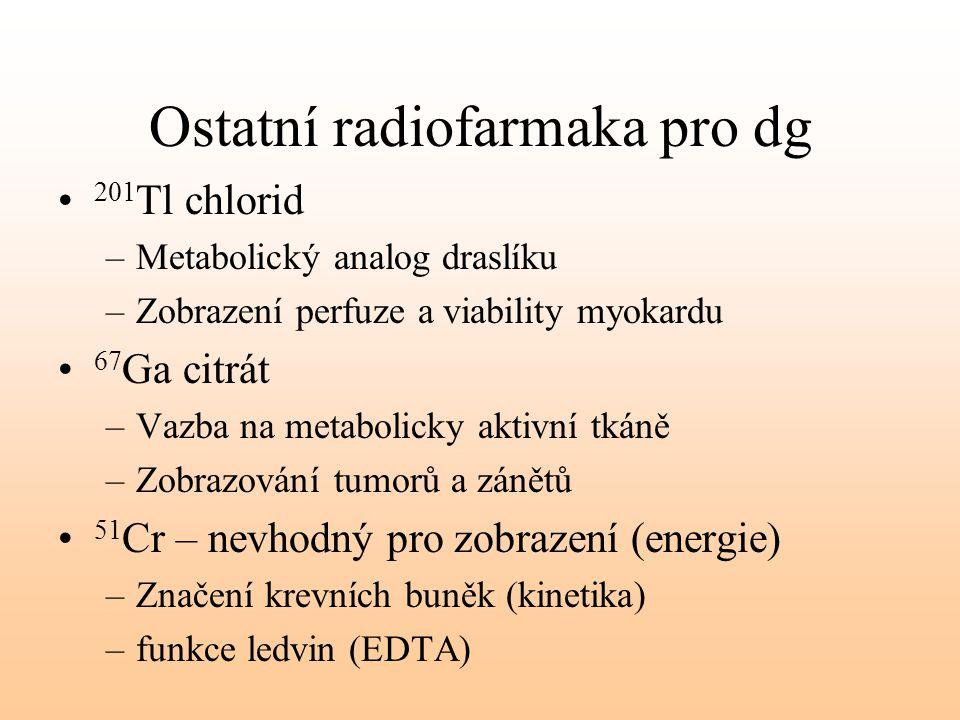 Ostatní radiofarmaka pro dg