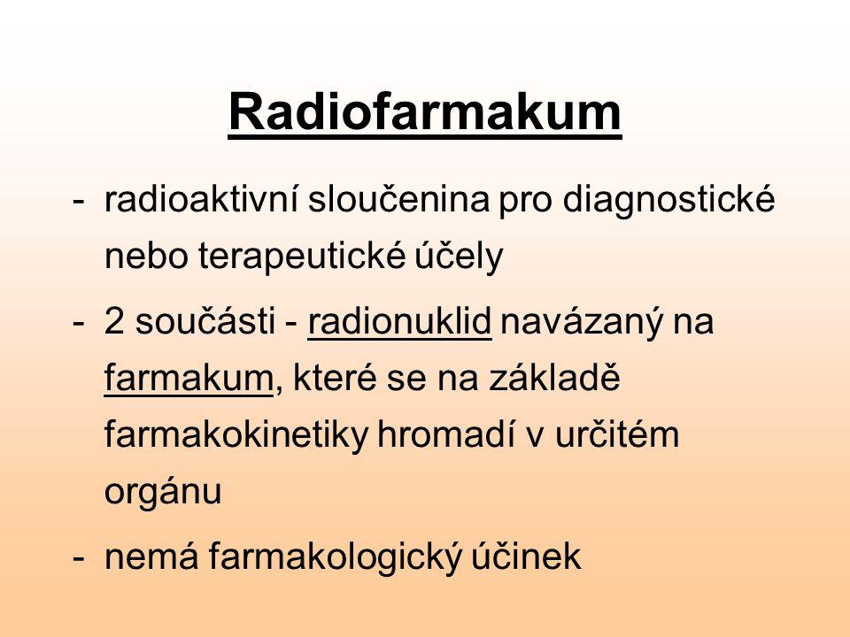 Radiofarmakum radioaktivní sloučenina pro diagnostické nebo terapeutické účely.