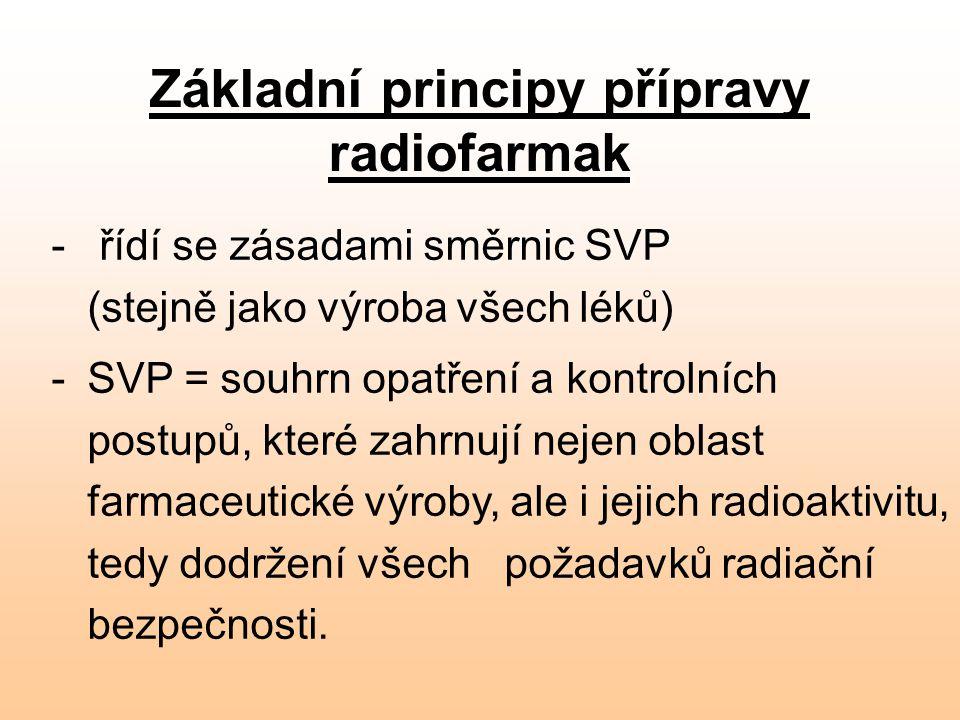 Základní principy přípravy radiofarmak