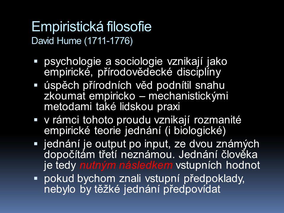 Empiristická filosofie David Hume (1711-1776)