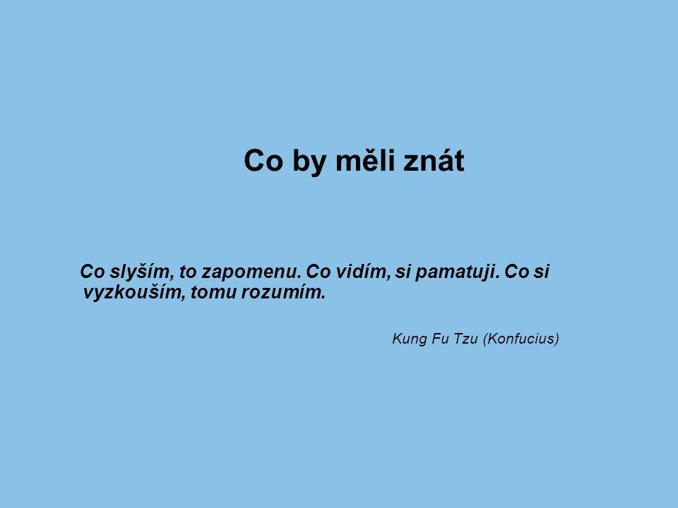 Co by měli znát Kung Fu Tzu (Konfucius)