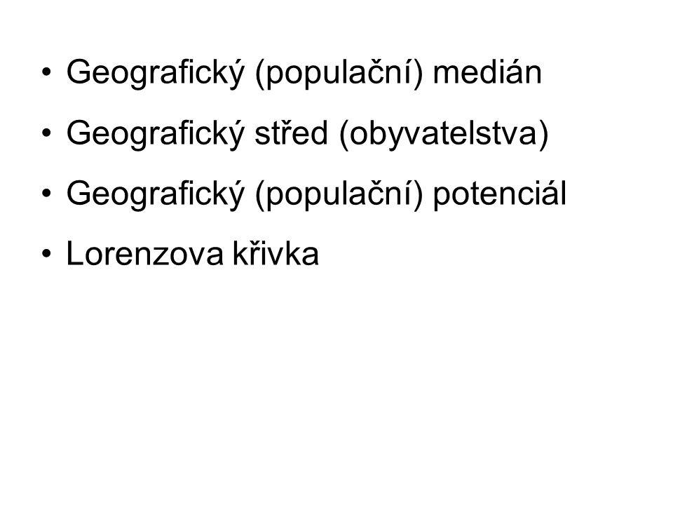 Geografický (populační) medián