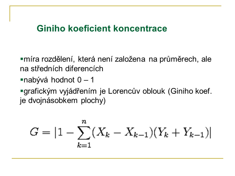 Giniho koeficient koncentrace