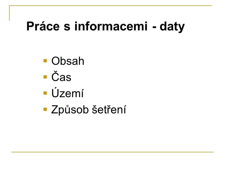 Práce s informacemi - daty