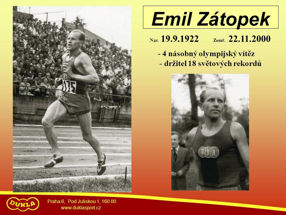 Emil Zátopek - 4 násobný olympijský vítěz