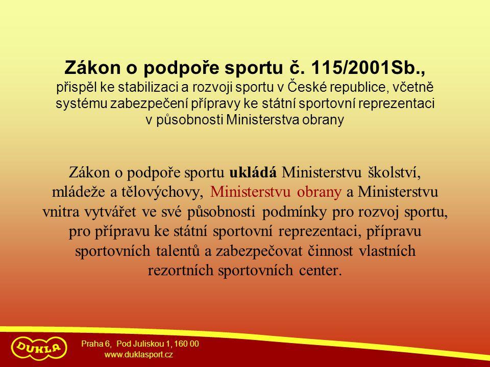 Zákon o podpoře sportu č. 115/2001Sb