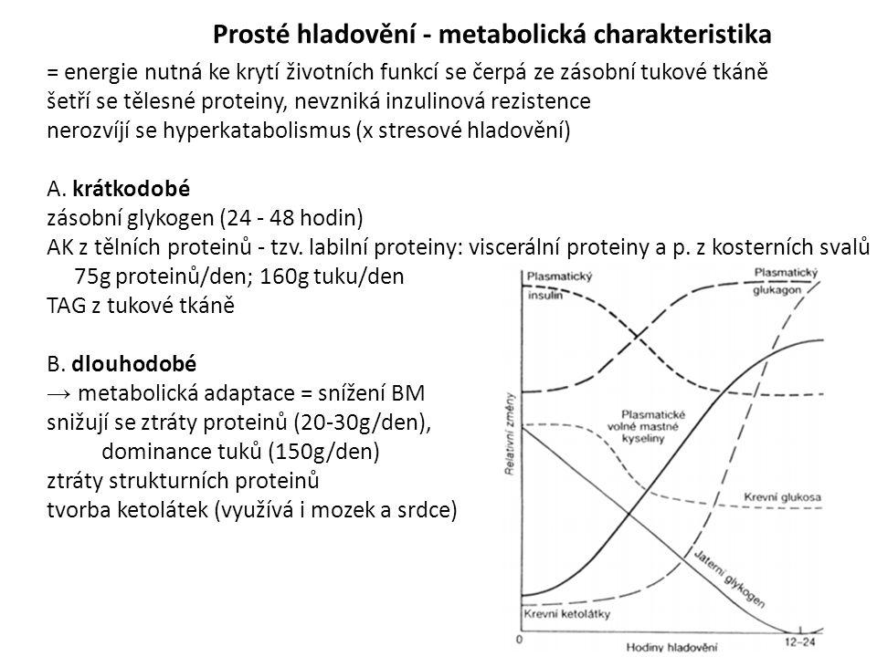 Prosté hladovění - metabolická charakteristika