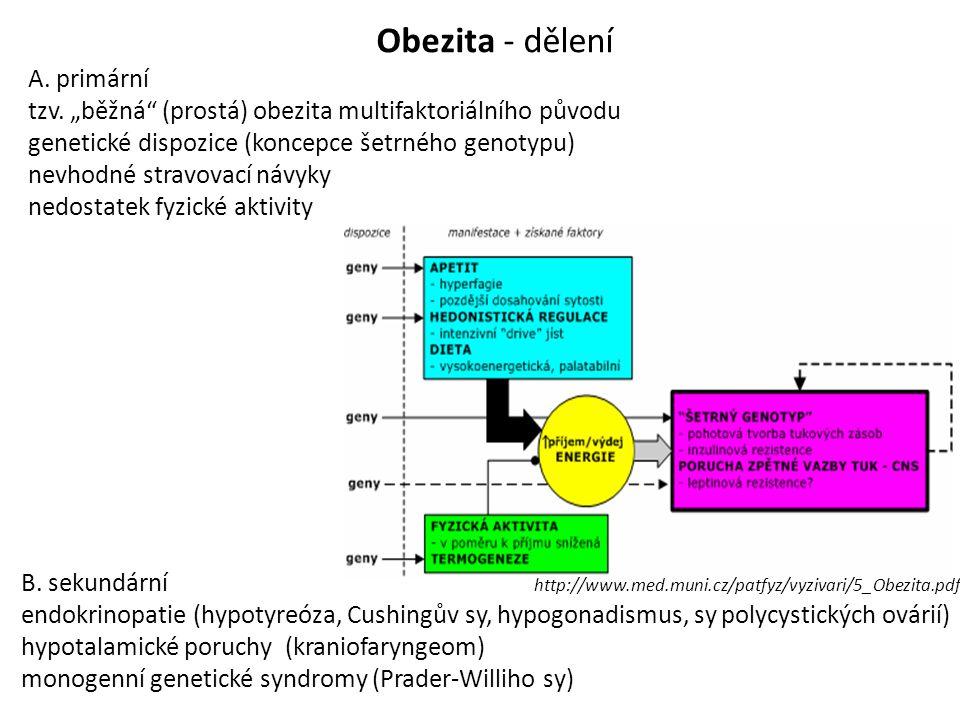 Obezita - dělení A. primární