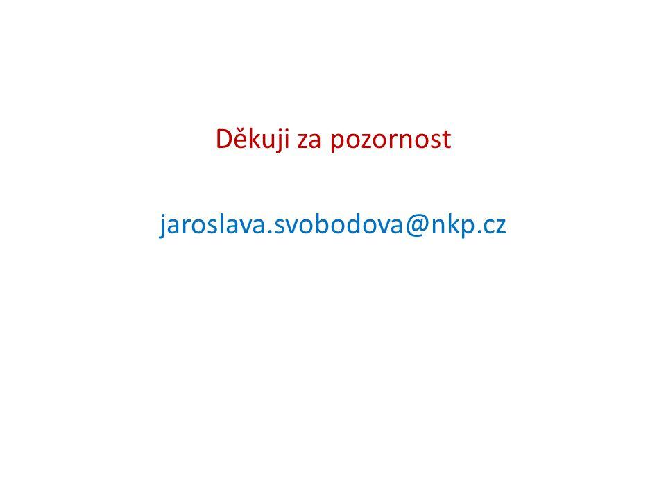 Děkuji za pozornost jaroslava.svobodova@nkp.cz