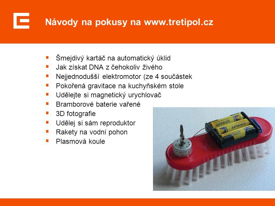 Internet www.cez.cz/vzdelavaciprogram