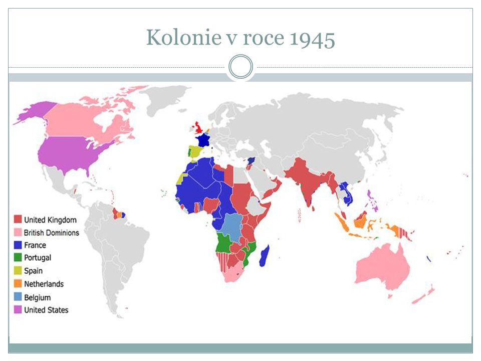Kolonie v roce 1945