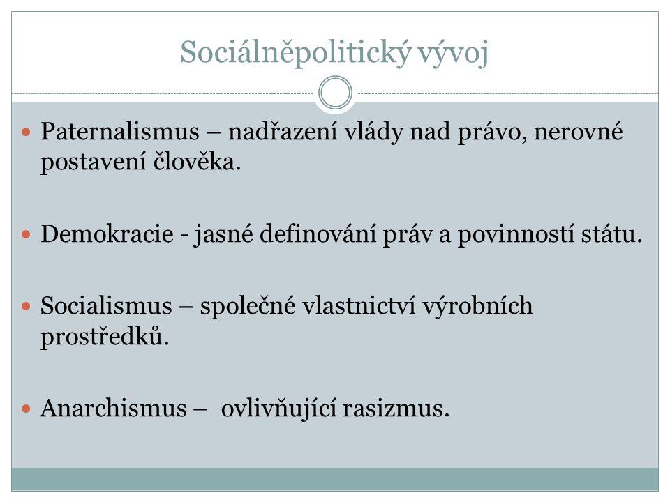 Sociálněpolitický vývoj