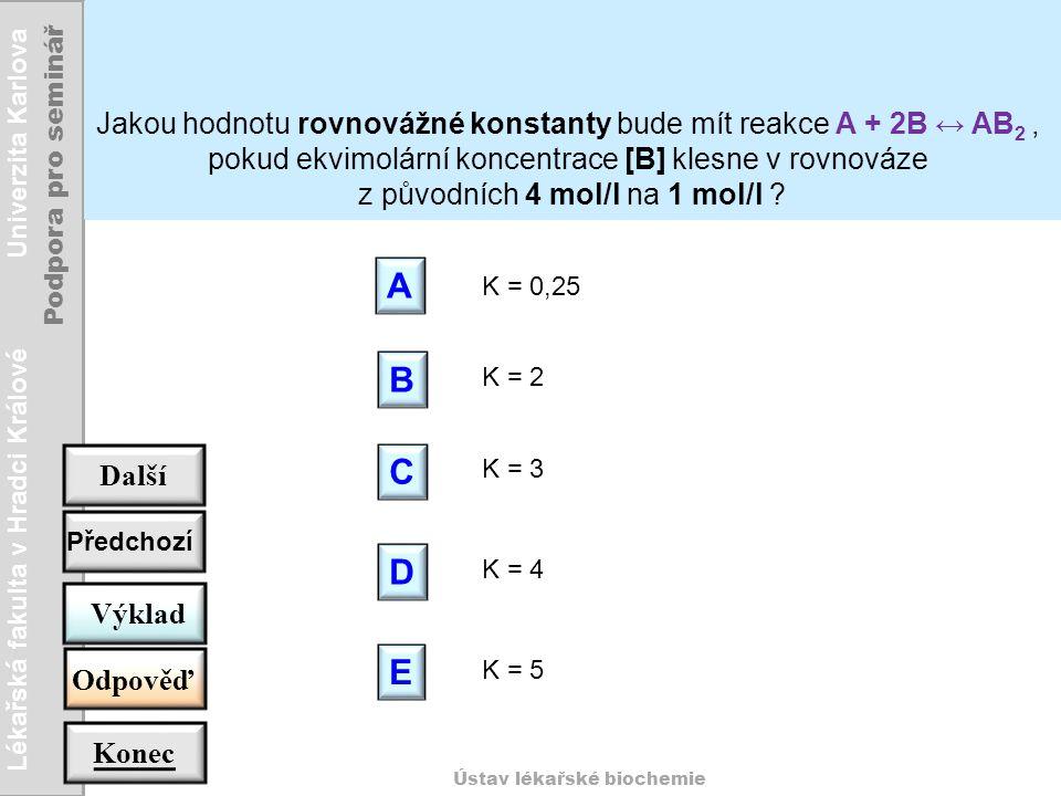 z původních 4 mol/l na 1 mol/l
