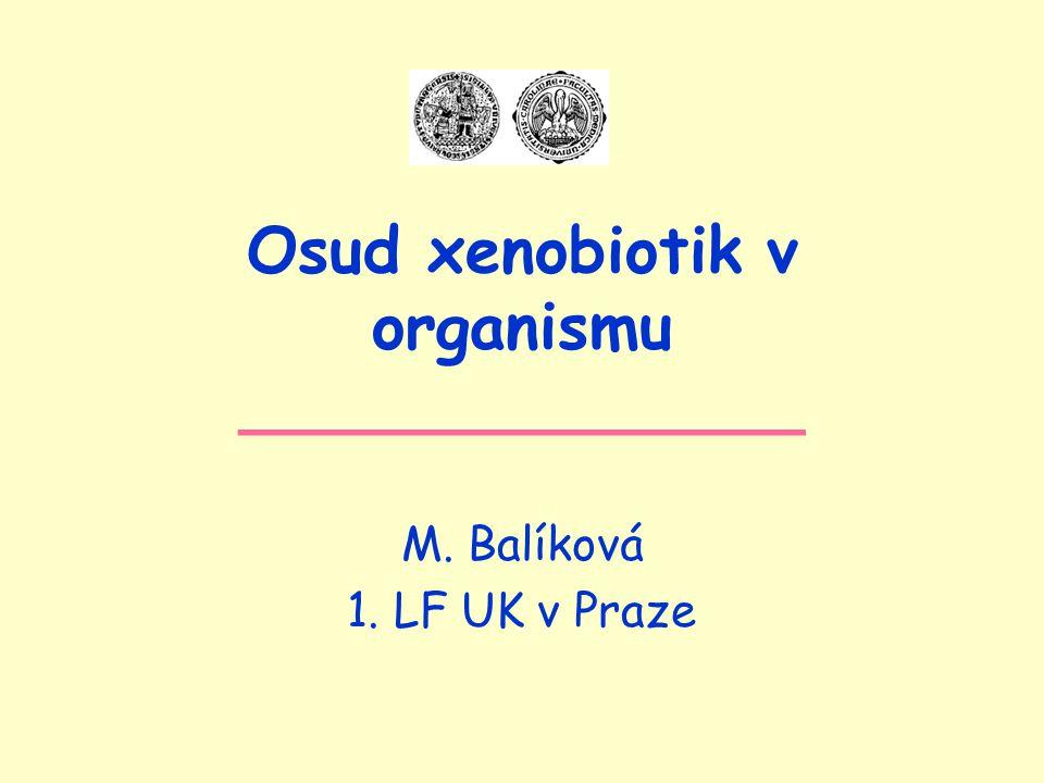 Osud xenobiotik v organismu ______________