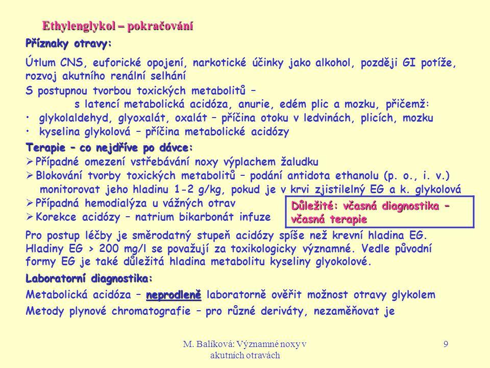 Ethylenglykol – pokračování