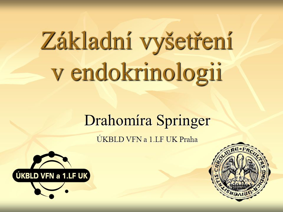 Základní vyšetření v endokrinologii
