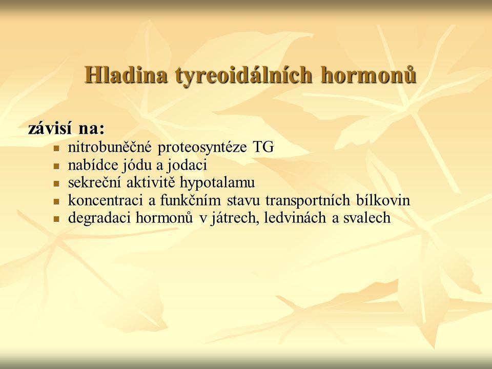 Hladina tyreoidálních hormonů