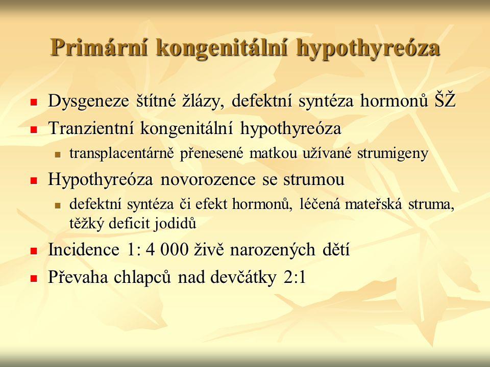 Primární kongenitální hypothyreóza