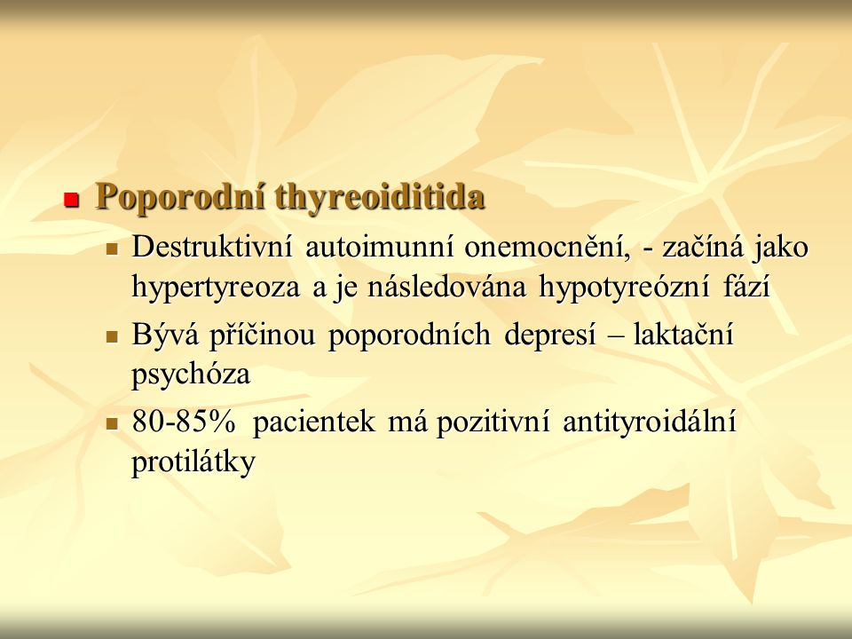 Poporodní thyreoiditida