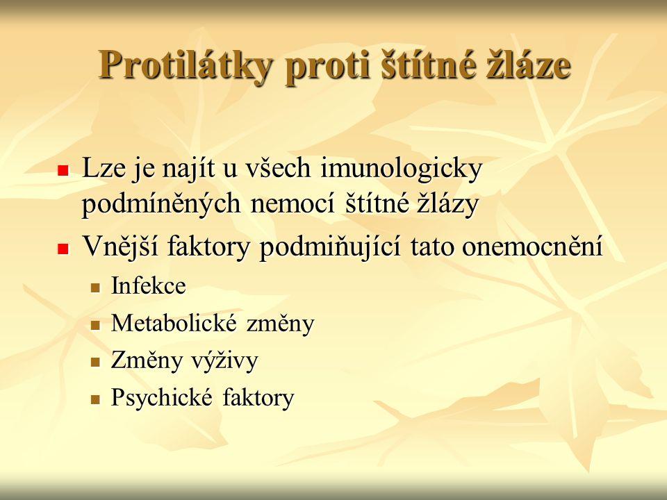 Protilátky proti štítné žláze