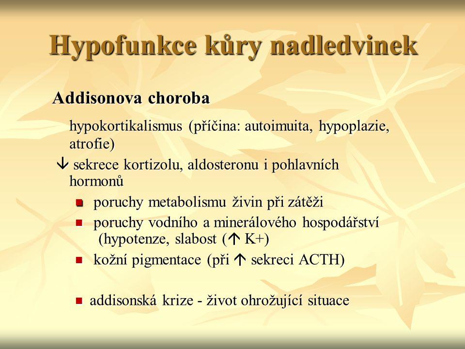 Hypofunkce kůry nadledvinek