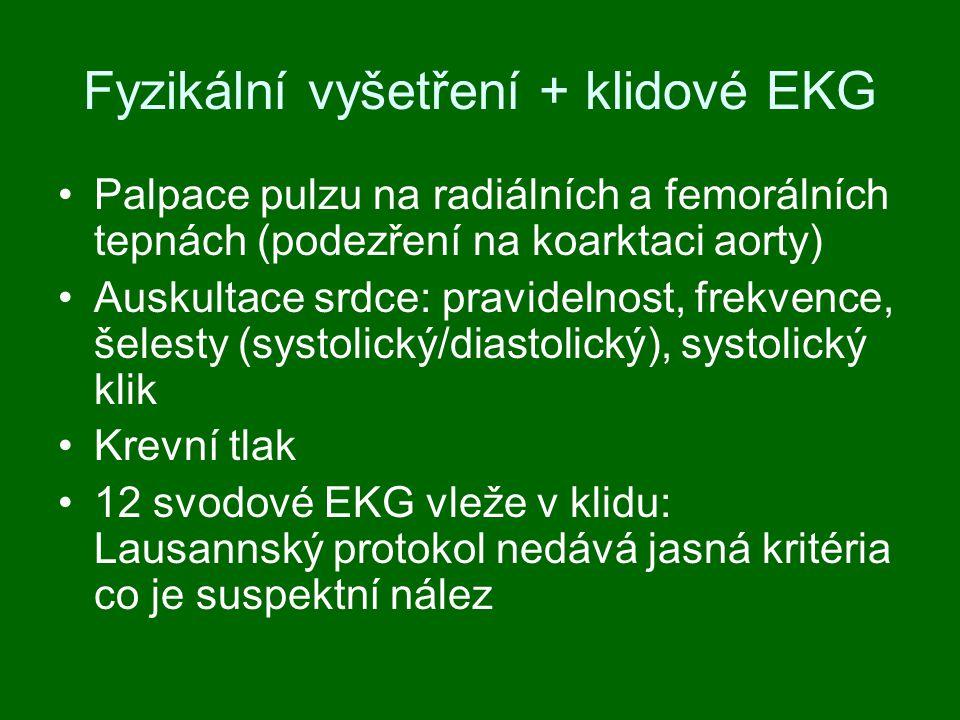Fyzikální vyšetření + klidové EKG